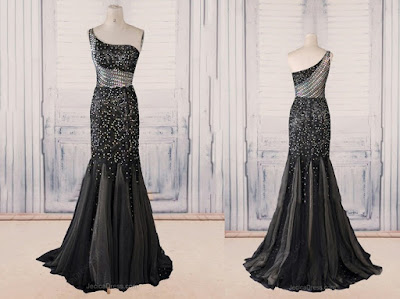 black evening dress cheap