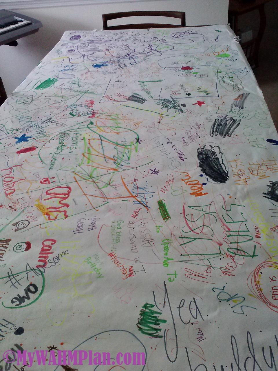 happy craft table