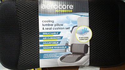 Aerocore Cooling Lumbar Pillow and Cushion Set – breathable, air-cushioned