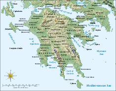 Map of Achaea Province Image