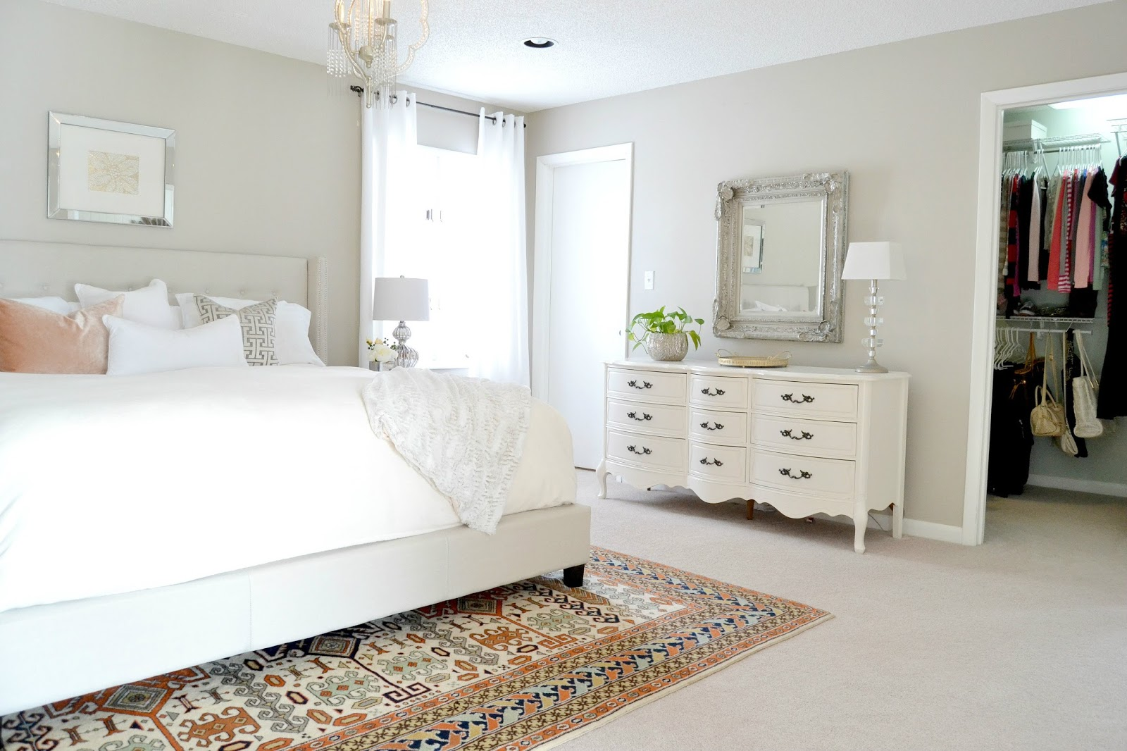 Livelovediy how to decorate on a budget our house tour for Small neutral bedroom ideas