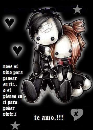 Imagenes Emo Con Frases De Amor  Vol  2