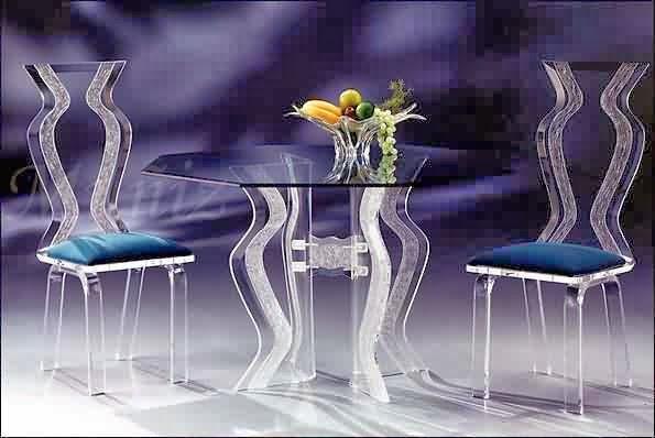 ديكور طاولات زجاج للصالونات والسفرة 2014 , صور طاولات من الزجاج