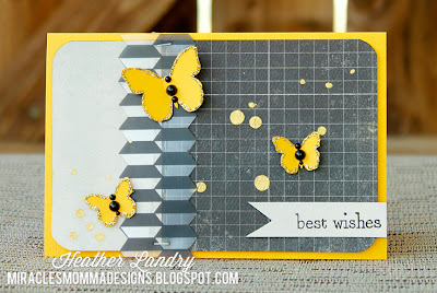 Yellow Butterflies_Transparency Card_Staples_Heather Landry
