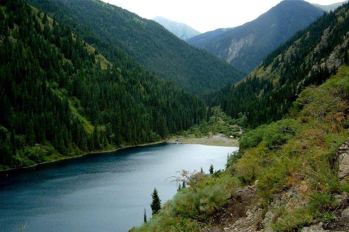 worldzone7: Almaty Lake in Kazakhstan
