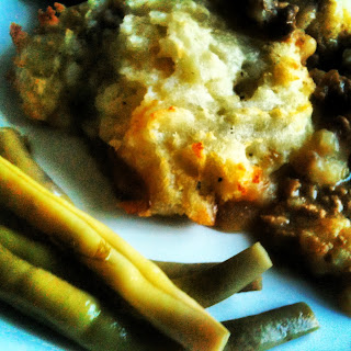 Dilly beans with cottage pie, tastier than red cabbage.