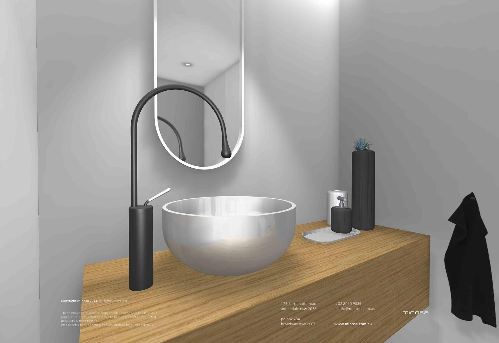 Minosa new minosa bathroom design resort style ensuite - Sydney City Apartment Modern Bathroom Design With Corian Walls
