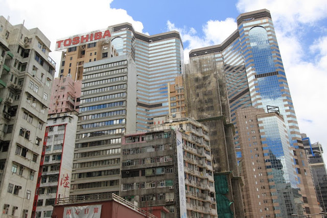 Combination of old and new buildings in Stanley, Hong Kong
