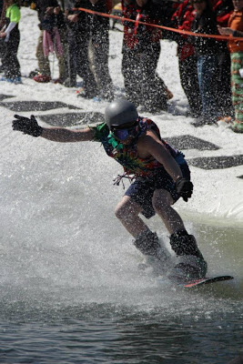 Pond Skimming at Wintergreen VA