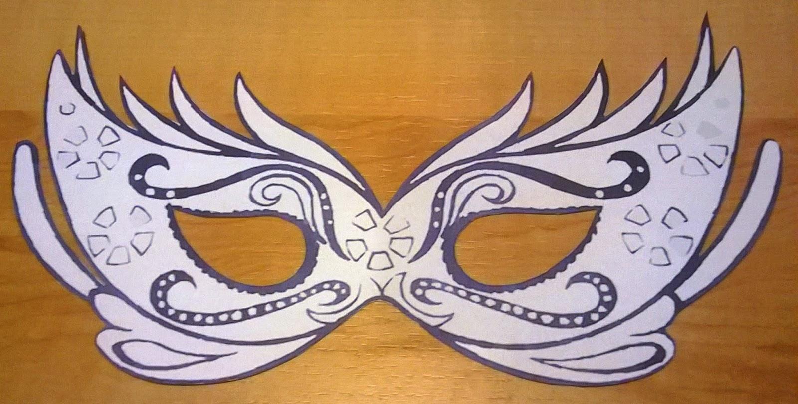 Ziemlich Venezianische Masken Vorlage Fotos ...