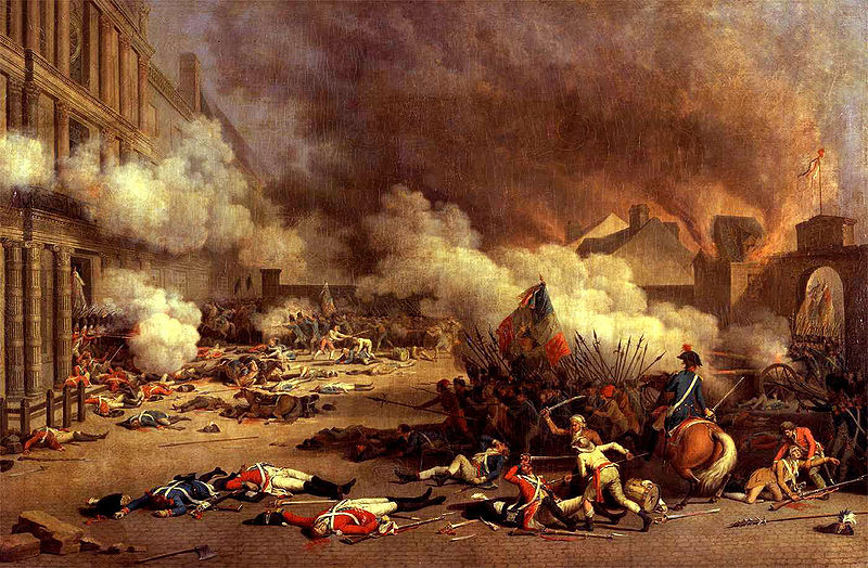 Tuileries Palace Assaulted  August 10  1792Legislative Assembly French Revolution