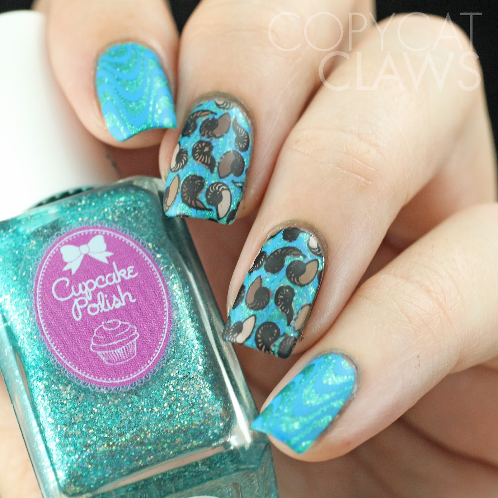Copycat Claws Blue Color Block Nail Art: Copycat Claws: All The Light We Cannot See Nail Art