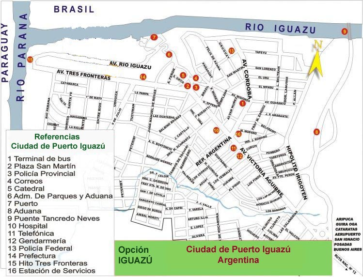 Puerto Iguazu Argentina  City new picture : Mapas de Puerto Iguazu Argentina MapasBlog