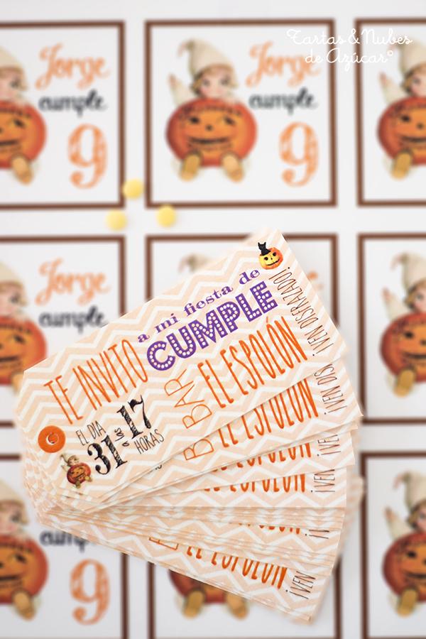 Invitaciones cumpleaños Halloween personalizadas