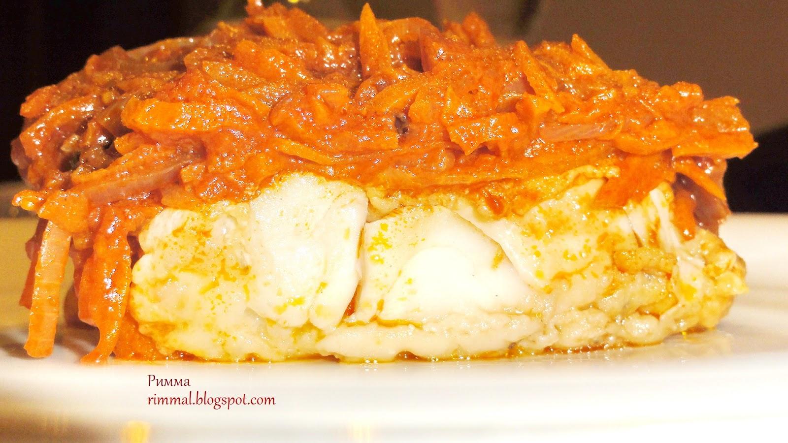 Скумбрия под маринадом из моркови и лука рецепт