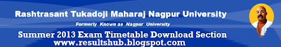 Nagpur University Summer 2013 Timetable