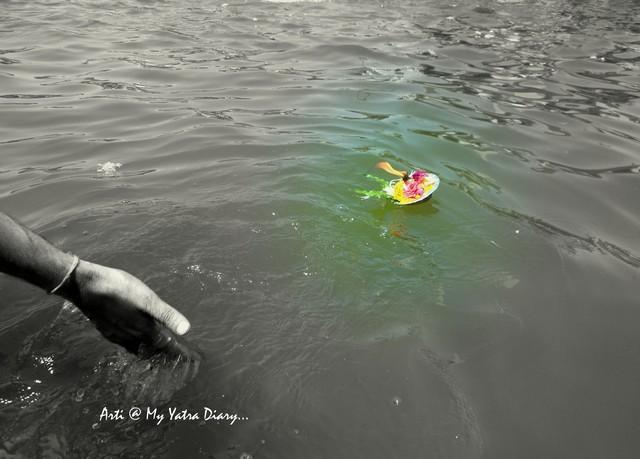 Gleaming Diya, Godavari River Ghat, Nashik