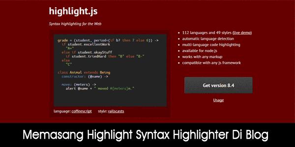 Highlight.js Syntax Highlighter