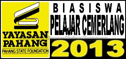 Tawaran Skim Biasiswa Pelajar Cemerlang Yayasan Pahang