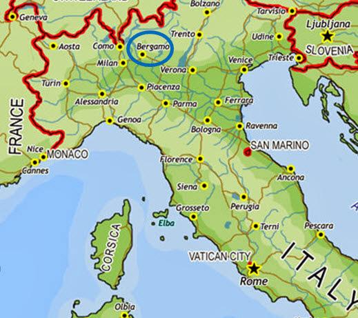 l 11 di bergamo italy map - photo#11