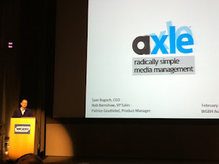 Sam Bogoch presents the Axle Video media asset management system.