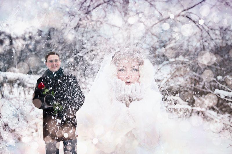 Красота зимней свадьбы (27 фото)