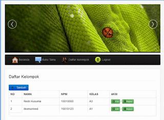 Gratis Aplikasi sederhana CRUD Web Sekolah