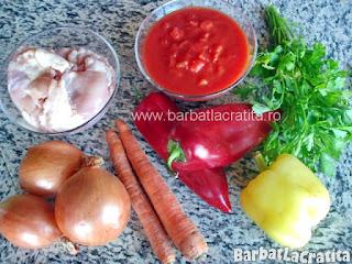 Tocanita de pui ingrediente reteta
