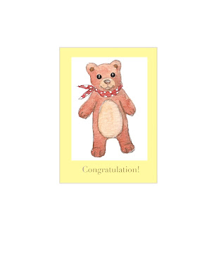 new baby card (bear)