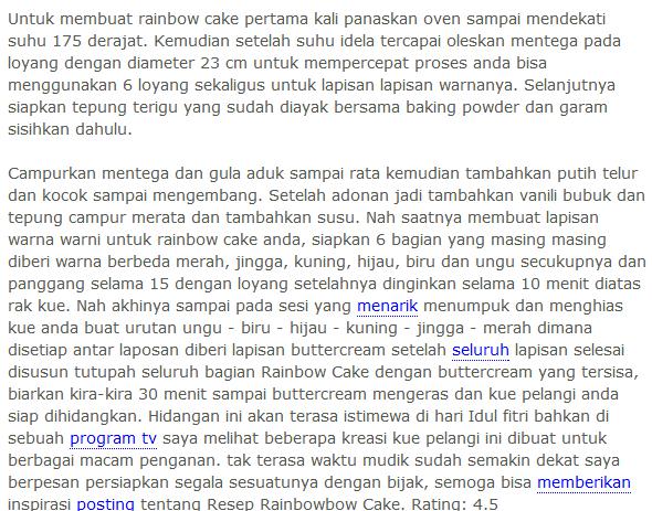 Cara Membuat Rainbow Cake Nih
