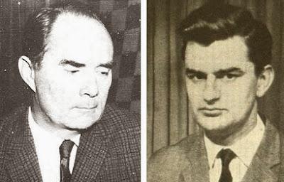Los ajedrecistas Alberic O'Kelly y Klaus Darga