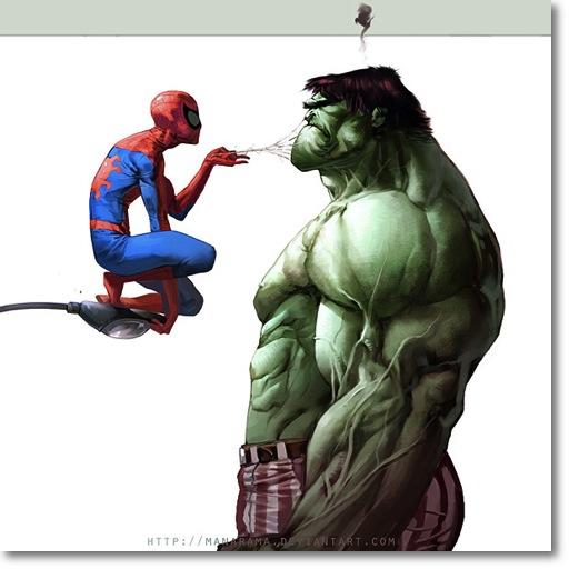 Avengers Puny Spiderman Hulk Fan Art Deviant art awesome funny smash