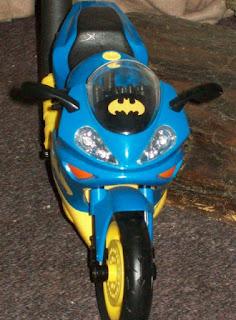 Mattel Batgirl Batcycle, front view