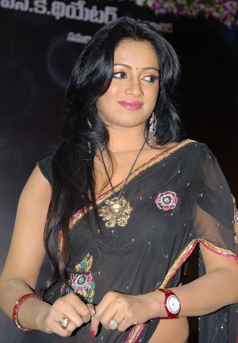 udaya bhanu saree latest photos