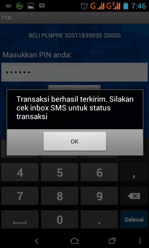 Maka anda akan mendapat balasan sms dari Bank BRI yang berisikan ...
