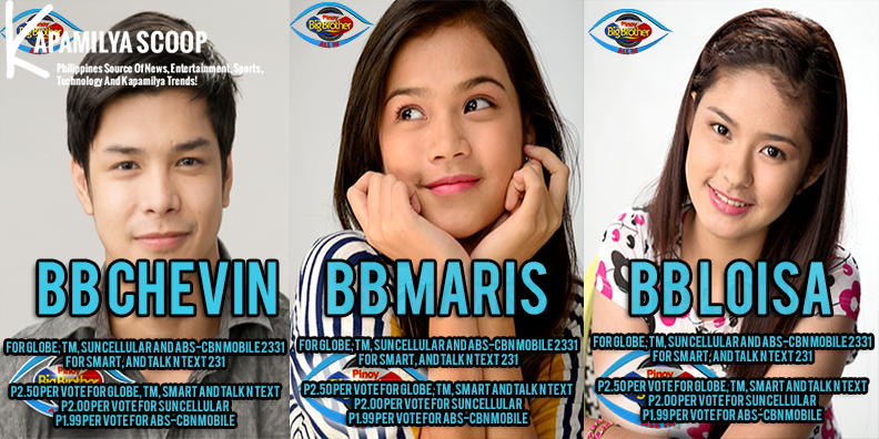 Saturday May 10, 2014 PBB Named the official list of nominees