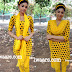 Tamil Actress Ambuja in Yellow Polka Dots Salwar Kameez