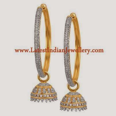 Hoopy Style diamond Earrings