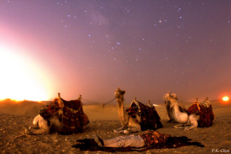 Đêm sa mạc ở Ai Cập. Tác giả : P.K. Chen.