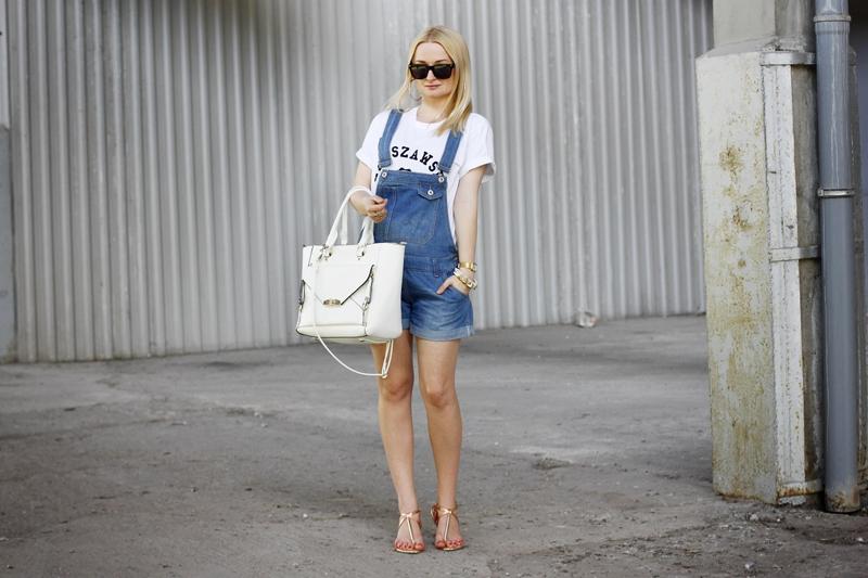Denim Dungaree Shorts