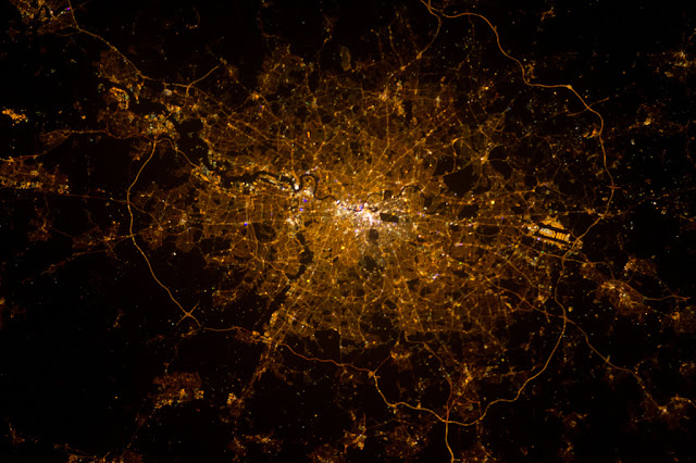 Satellite photo of London as seen from space