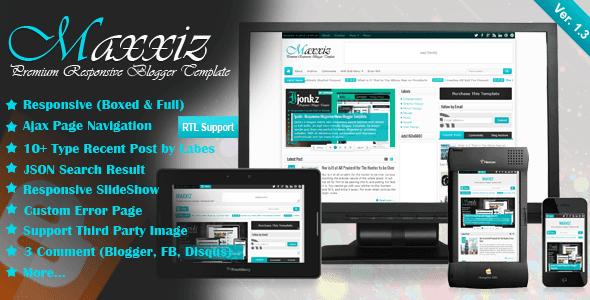 Maxxiz v1.3 Responsive Magazine News Blogger Template