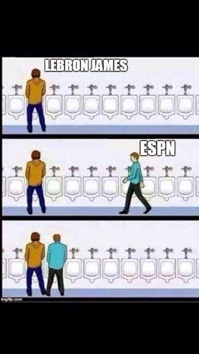LeBron James, ESPN. - #LeBronJames #ESPN #nbamemes #nba #urinal #urinalmeme