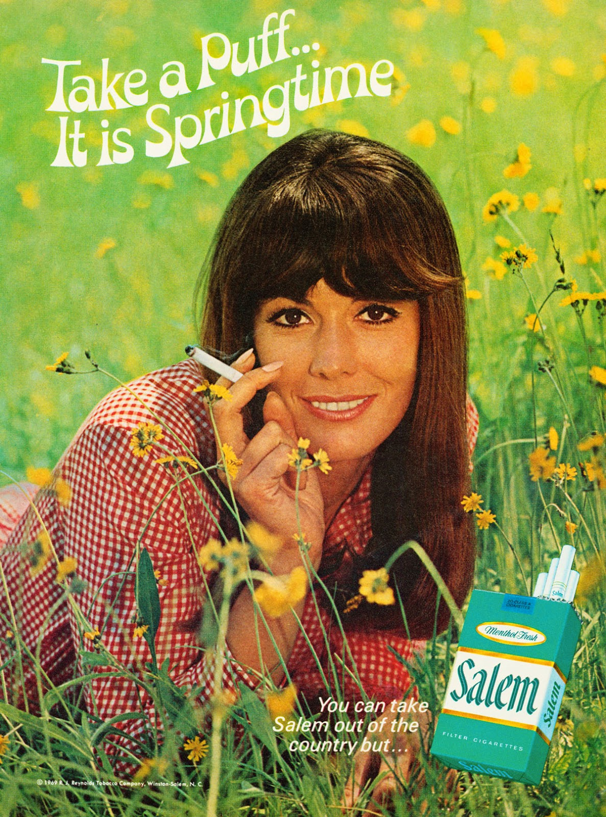 """""""Springtime"""" – 15 Greenery Tobacco Advertisements of Salem in the 1960s and '70s"""