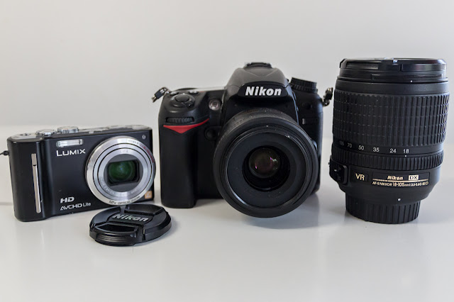 nikon d7000 and panasonic lumix tz10 cameras