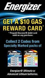 Energizer rewards