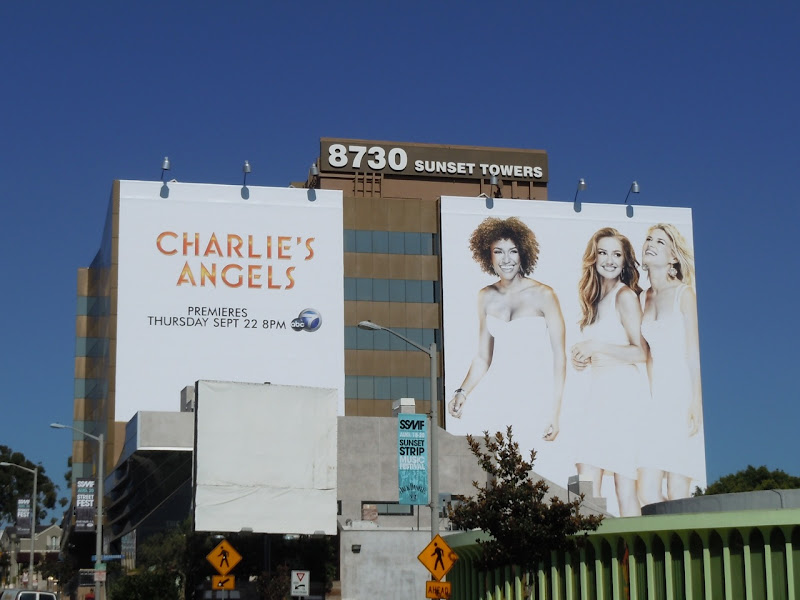 Giant Charlie's Angels billboard