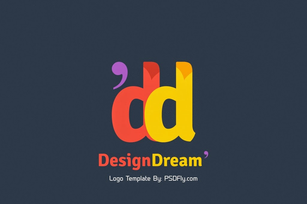 free psd logo template with flat style psd fly download free psd files