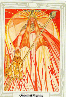 Tarot Thrones blog:  The Queen of Wands (Thoth Tarot)