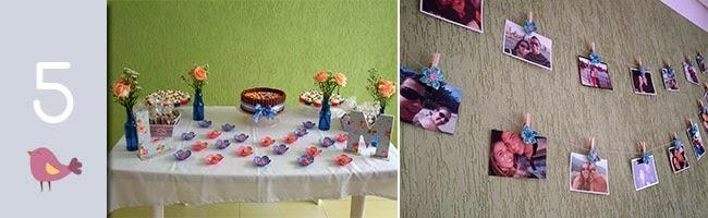 decoração de noivado, diy, noivado